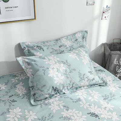 2019新品-斜纹活性磨毛单枕套 植物羊绒澳棉化纤磨毛枕套 48cmX74cm / 对 似水柔情