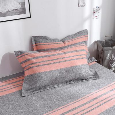 2019新品-斜纹活性磨毛单枕套 植物羊绒澳棉化纤磨毛枕套 48cmX74cm / 对 托斯卡纳
