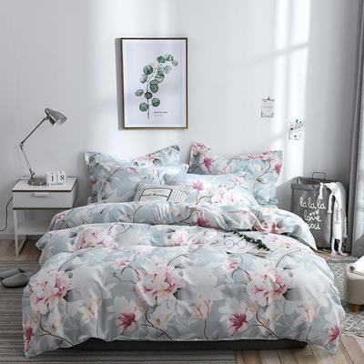 2019新款-斜纹活性磨毛四件套植物羊绒澳棉四件套床单床笠款化纤磨毛 1.8m床笠180x220被套 四件套 睡美人