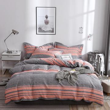2019新款-斜纹活性磨毛四件套植物羊绒澳棉四件套床单床笠款磨毛暖阳棉