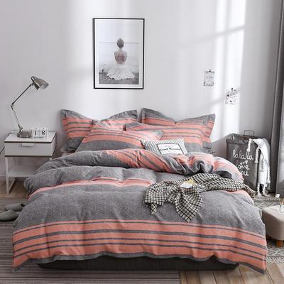 2019新款-斜纹活性磨毛四件套植物羊绒澳棉四件套床单床笠款磨毛暖阳棉 1.2m 床单款 托斯卡纳