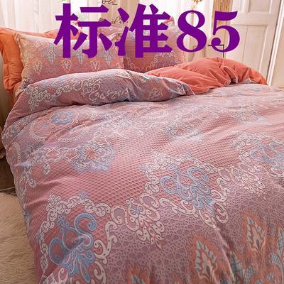 2019新款立体雕花绒四件套爆款水晶绒宝宝绒法莱绒四件套 1.8m(6英尺)床 香格里拉-紫玉