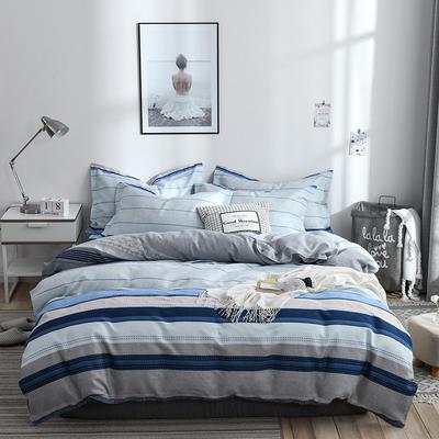 2020新款斜纹磨毛四件套 1.5m(5英尺)床单款 欧尚生活