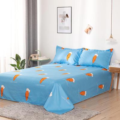 澳棉磨毛单件床单加厚植物羊绒贡棉暖阳棉床单接外贸单 200cmx230cm 胡萝卜