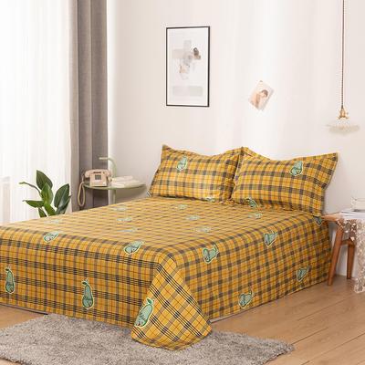 澳棉磨毛单件床单加厚植物羊绒贡棉暖阳棉床单接外贸单 200cmx230cm 青梨-黄