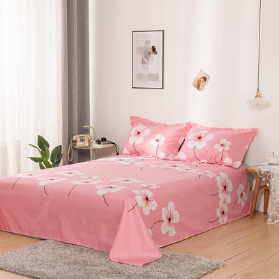 澳棉磨毛单件床单加厚植物羊绒贡棉暖阳棉床单接外贸单 200cmx230cm 桃花吟
