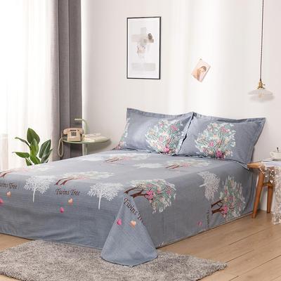 澳棉磨毛单件床单加厚植物羊绒贡棉暖阳棉床单接外贸单 200cmx230cm 繁花似锦