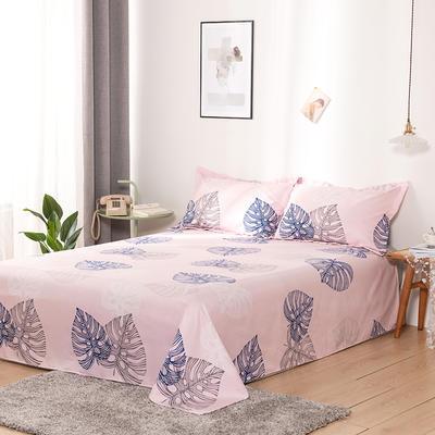 澳棉磨毛单件床单加厚植物羊绒贡棉暖阳棉床单接外贸单 200cmx230cm 叶脉