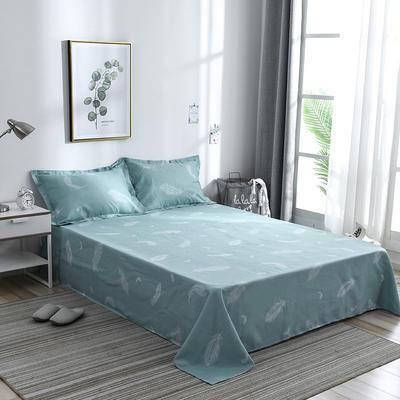 澳棉磨毛单件床单加厚植物羊绒贡棉暖阳棉床单接外贸单 200cmx230cm 心情故事-蓝
