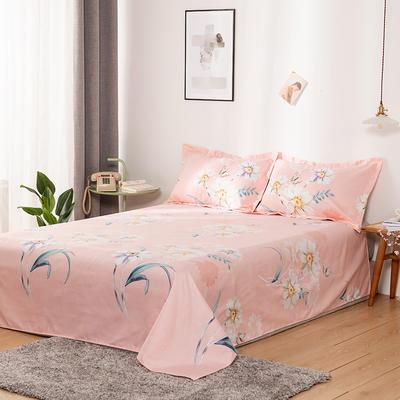 澳棉磨毛单件床单加厚植物羊绒贡棉暖阳棉床单接外贸单 200cmx230cm 花之柔