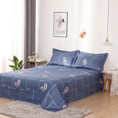澳棉磨毛单件床单加厚植物羊绒贡棉暖阳棉床单接外贸单 200cmx230cm 叶相伴