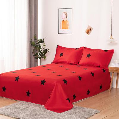 澳棉磨毛单件床单加厚植物羊绒贡棉暖阳棉床单接外贸单 200cmx230cm 五角星