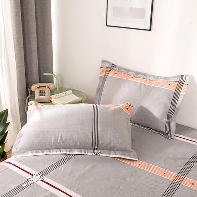 2019新品-斜纹活性磨毛单枕套 植物羊绒澳棉磨毛枕套暖阳棉 48cmX74cm / 一对 迷恋阁
