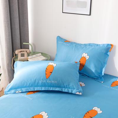2019新品-斜纹活性磨毛单枕套 植物羊绒澳棉磨毛枕套暖阳棉 48cmX74cm / 一对 胡萝卜