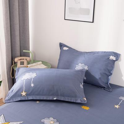 2019新品-斜纹活性磨毛单枕套 植物羊绒澳棉磨毛枕套暖阳棉 48cmX74cm / 一对 卡通星