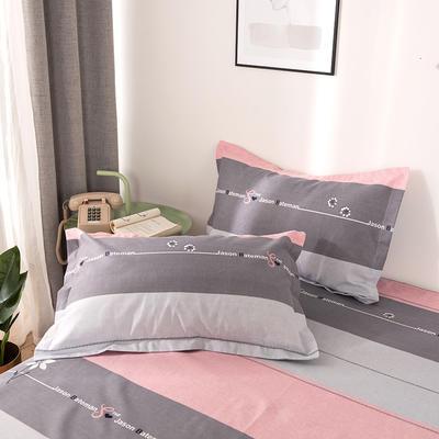 2019新品-斜纹活性磨毛单枕套 植物羊绒澳棉磨毛枕套暖阳棉 48cmX74cm / 一对 熙和