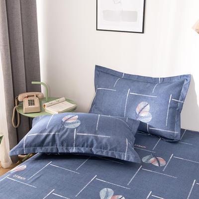 2019新品-斜纹活性磨毛单枕套 植物羊绒澳棉磨毛枕套暖阳棉 48cmX74cm / 一对 叶相伴