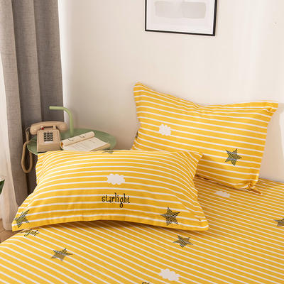 2019新品-斜纹活性磨毛单枕套 植物羊绒澳棉磨毛枕套暖阳棉 48cmX74cm / 一对 温暖星光