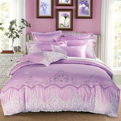 婚庆多件套 方垫60*60*2 蕾丝公主-紫