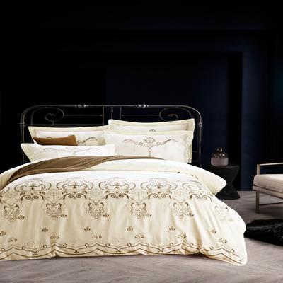 提花长绒棉四件套系列、提花四件套、长绒棉 标准(1.5m-1.8m床) 秀丽江山