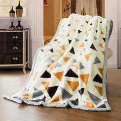 加厚拉舍尔毛毯 150*200cm(4.8斤) 706大三角