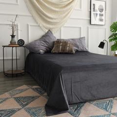 水洗棉绗缝床单 单床单245*250 浅灰