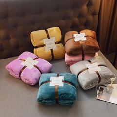 纯色 金貂绒毛毯 精美包装  微商专供 200cmx230cm3.2斤 孔雀绿(丝卡)