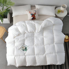 2018新款-纯色羽丝绒被子被芯 全尺寸 多规格冬被 春秋被 150*210cm/3斤 白色