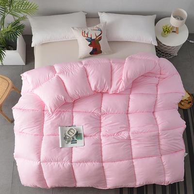 2018新款-纯色羽丝绒被子被芯 全尺寸 多规格冬被 春秋被 150*210cm/3斤 粉色