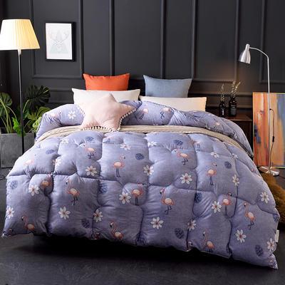 2018新款-印花羽丝绒被子被芯  全尺寸 多规格冬被 春秋被 150*210cm/3斤 候鸟