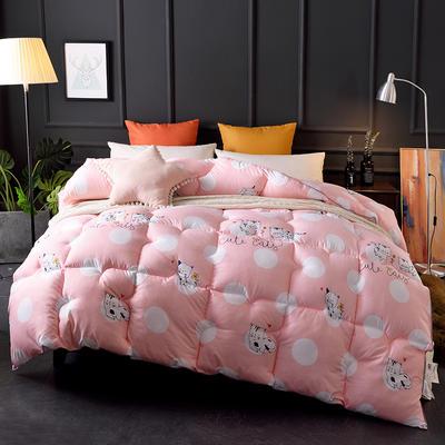2018新款-印花羽丝绒被子被芯  全尺寸 多规格冬被 春秋被 150*210cm/3斤 甜心