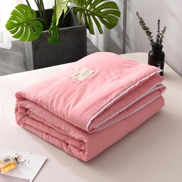 2019新款-简约纯色水洗棉夏被 夏凉被 空调被 被芯