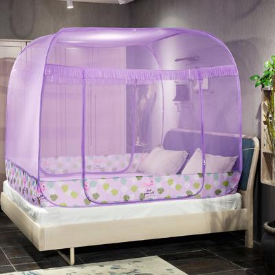 免安装蚊帐新款 150*200 火烈鸟-紫色