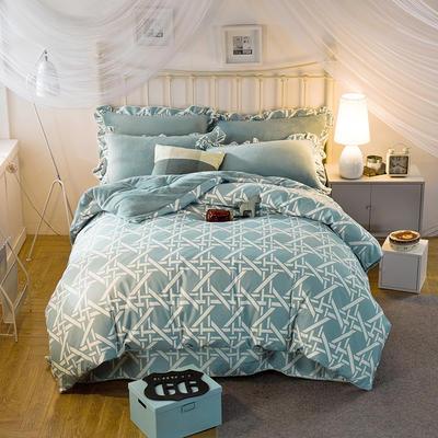 2019款 韩版法莱绒四件套加厚法兰绒套件 1.5m(5英尺)床四件套 艺术气息