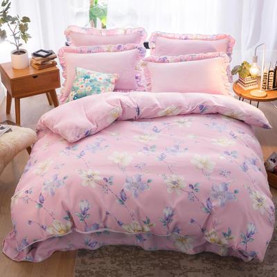 2018新款-韩版法莱绒四件套加厚法兰绒套件 1.5m(5英尺)床四件套 兰特庄园