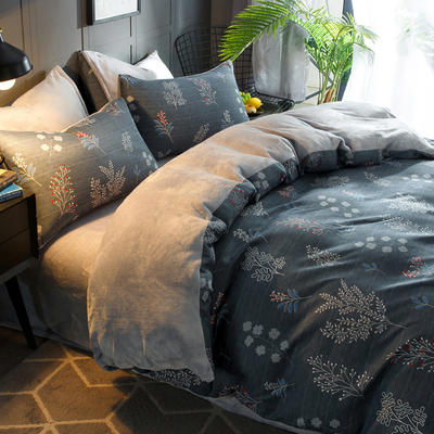 2018新款-时尚法莱绒四件套加厚法兰绒四件套 床单款1.5m(5英尺)床 迷人梦