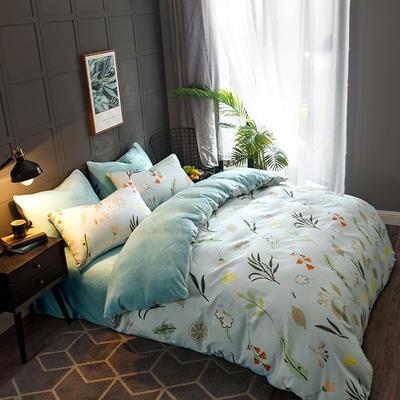 2019-时尚法莱绒四件套加厚法兰绒四件套 床单款1.8m(6英尺)床 印象
