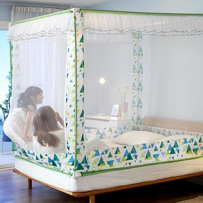 乐蔻家纺   2021床笠款宝宝防摔坐床三开门拉链蚊帐 1.5m(5英尺)床 自由绿