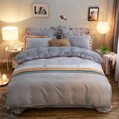 2019款 韩版法莱绒四件套加厚法兰绒套件 1.8m(6英尺)床四件套 潮流品味
