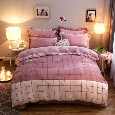 2019款 韩版法莱绒四件套加厚法兰绒套件 1.8m(6英尺)床四件套 浮生若梦