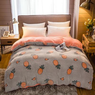 雪花绒法莱绒单被套 200*230cm 动漫菠萝