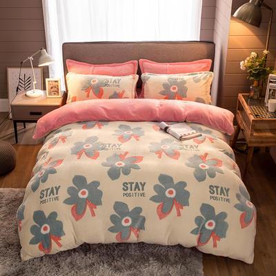 2019新款-雪花绒四件套 床单款1.5m(5英尺)床 多姿枫叶