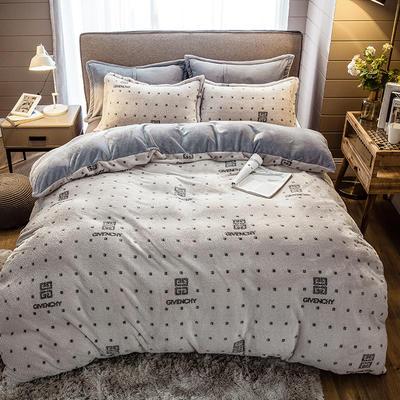 2019新款-雪花绒四件套 床单款1.5m(5英尺)床 纪存希