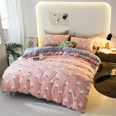 2019-时尚法莱绒四件套加厚法兰绒四件套 床单款1.8m(6英尺)床 约定