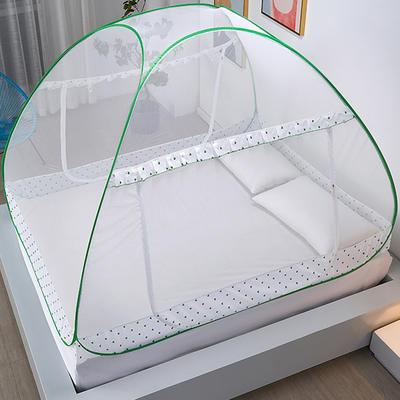 新款蒙古包蚊帐免安装1.8m床学生宿舍1.5床上下铺儿童防摔 1.2*2M床 四叶草