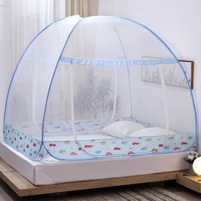 新款蒙古包蚊帐免安装1.8m床学生宿舍1.5床上下铺儿童防摔 1.8m(6英尺)床 卡通小飞机