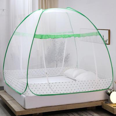 新款蒙古包蚊帐免安装1.8m床学生宿舍1.5床上下铺儿童防摔 1.5m(5英尺)床 四叶草