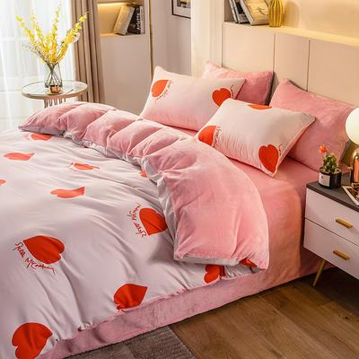 2020-时尚法莱绒四件套加厚法兰绒四件套 床单款1.5m(5英尺)床 心愿