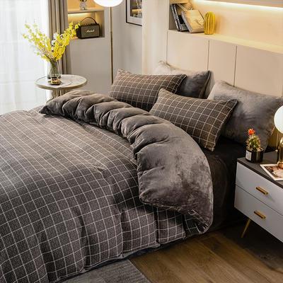 2020-时尚法莱绒四件套加厚法兰绒四件套 床单款1.8m(6英尺)床 迷森