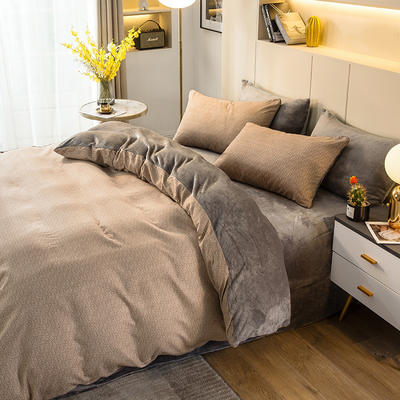 2020-时尚法莱绒四件套加厚法兰绒四件套 床单款1.8m(6英尺)床 曼丝